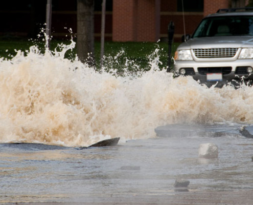 Intervention en cas d'inondation