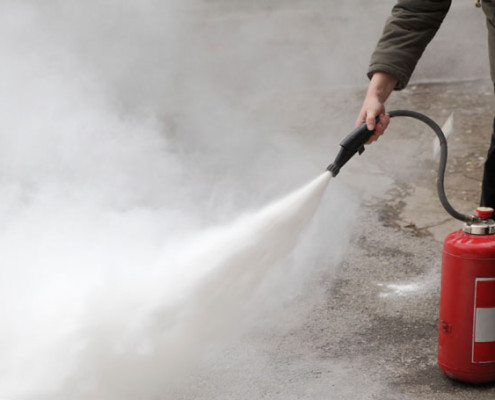 Fire Extinguishing Dust Response