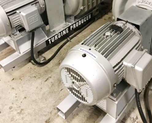 Electric car wash motor after cleaning